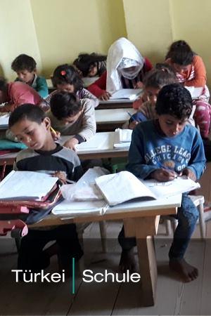 Aktuelles Hilfsprojekt: Türkei – Schule